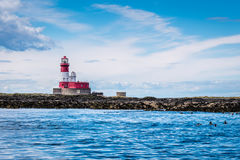 Farne Islands Longstone Rock and Lighthouse Stock Image