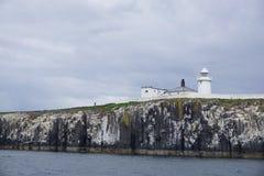 Farne Lighthouse, Inner Farne, Northumberland, England Royalty Free Stock Photo