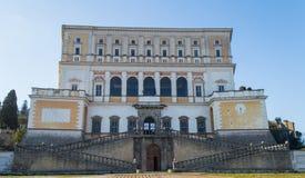 Farnese宫殿,卡普拉罗拉,意大利 免版税库存图片