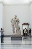 Farnese赫拉克勒斯在那不勒斯全国考古学博物馆 免版税库存照片