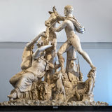 The Farnese Bull. NAPLES, ITALY - JULY 22 2015: The Farnese Bull at the Naples National Archaeological Museum is a massive Hellenistic sculpture, the largest Royalty Free Stock Photography
