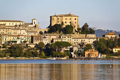 Farnese castle in capodimonte -  Bolsena Italy Stock Images
