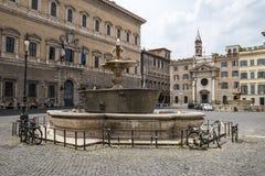 Farnese fyrkant i Rome Fotografering för Bildbyråer