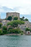 Farnese palace bolsena lake Stock Images