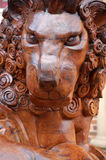 Farnham lion carving Stock Photography
