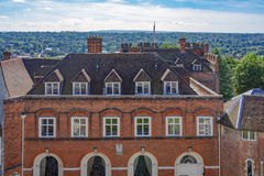 Farnham-Schloss in Surrey Stockbilder