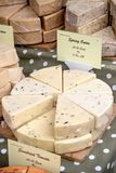 Goods for sale at Farnham Food Festival. Farnham, United Kingdom, 30th October 2017:-Cheese for sale on a stall at Farnham International Food Festival Stock Image