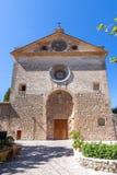 Farny kościół święty Bartholomew, Valldemossa, Mallorca, Hiszpania zdjęcia stock
