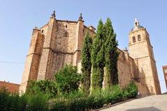 Farny kościół Asuncion w Puertollano, Ciudad Real prowincja, Hiszpania Fotografia Royalty Free