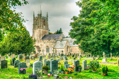Farny kościół St James - cmentarz Obrazy Royalty Free