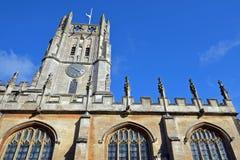 Farny kościół St Mary dziewica w Fairford Fotografia Stock
