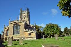 Farny kościół St Mary dziewica w Fairford Zdjęcia Stock