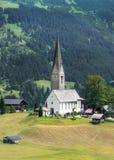 Farny kościół w Mittelberg, Austria fotografia royalty free