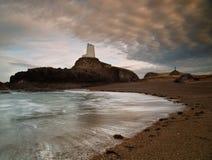 Faro abbandonato Fotografie Stock