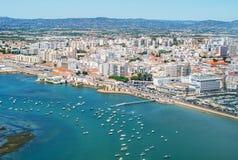 Faro. Aerial view of Faro, Algarve, Portugal stock photography