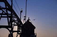 Faro al grande porto, Michigan Fotografia Stock Libera da Diritti