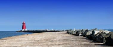 Faro al mare Fotografia Stock Libera da Diritti