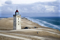 Faro al Mare del Nord fotografia stock libera da diritti