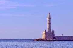Faro al porto Fotografia Stock Libera da Diritti