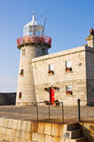 Faro al porto di Howth in Irlanda Immagine Stock Libera da Diritti
