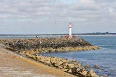 Faro al porto di Howth in Irlanda Fotografia Stock