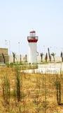 Faro al porto di La Goletta, Tunisia Fotografia Stock