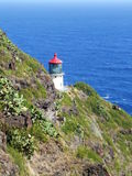 Faro al punto di Makapuu, Oahu, Hawai Immagine Stock Libera da Diritti