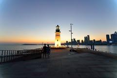 Faro al tramonto Fotografie Stock