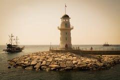 Faro in Alanya, Turchia Fotografie Stock