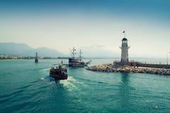 Faro in Alanya, Turchia Fotografie Stock Libere da Diritti
