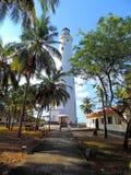 Faro all'isola di Minicoy Fotografia Stock Libera da Diritti