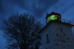Faro alla notte Fotografie Stock