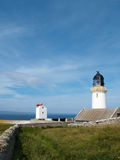 Faro alla testa di Dunnet, Caithness, Scozia Fotografia Stock