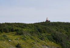 Faro alla testa di Ferryland, nl Canada fotografia stock libera da diritti