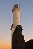 Faro arruinado del del Sacramento, Uruguay de Colonia Fotografía de archivo