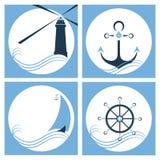 Faro asegurar Nave Interiortransportation del manejo wheel Fotos de archivo libres de regalías