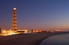 Faro a Aveiro nel Portogallo Immagini Stock Libere da Diritti