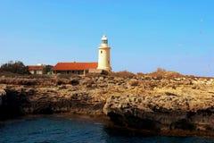 Faro Ayia Napa, Chipre Fotografía de archivo