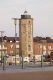 Faro in bacino di Dunkirk Fotografia Stock