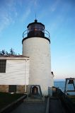 Faro basso della testa del porto nel Acadia Fotografie Stock Libere da Diritti