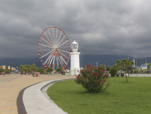 Faro a Batumi, Georgia fotografia stock