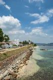 Faro bianco a Galle forte nello Sri Lanka immagine stock libera da diritti