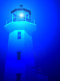 Faro blu Fotografia Stock