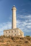 Faro Cabo de Palos - gammal fyr i La Manga Royaltyfria Foton