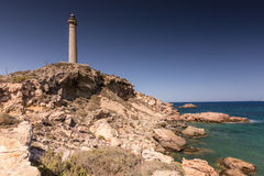 Faro Cabo de Palos - Old Lighthouse in La Manga Royalty Free Stock Images