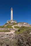 Faro Cabo de Palos - Old Lighthouse in La Manga Stock Photos