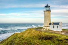 Faro capo del nord alla costa del Pacifico, costruita nel 1898 Immagini Stock Libere da Diritti