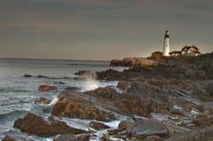 Faro capo di Portland, Maine Fotografie Stock