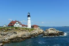 Faro capo di Portland, Maine Fotografia Stock