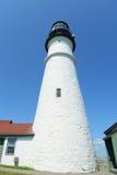 Faro capo di Portland, Maine Fotografie Stock Libere da Diritti